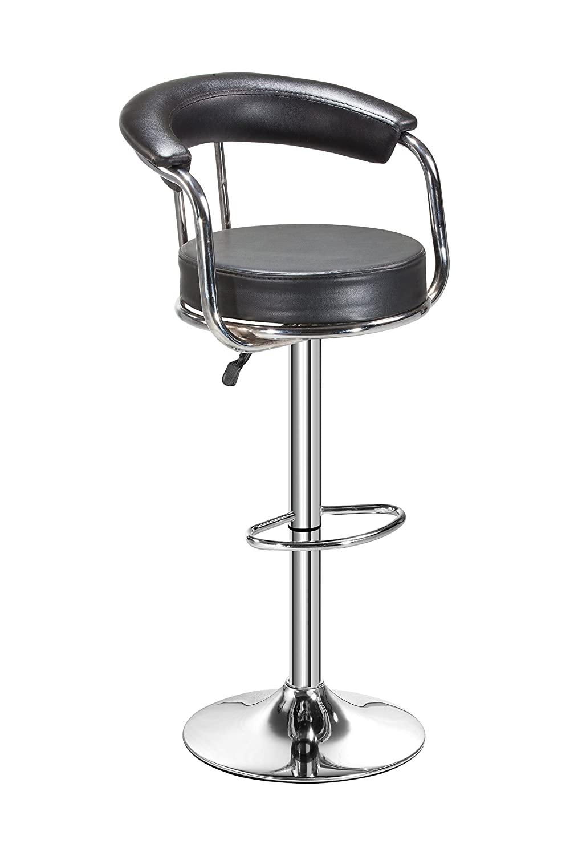 Da URBAN® Classic Height Adjustable Bar Stool Chair (Black) (1 Pc)