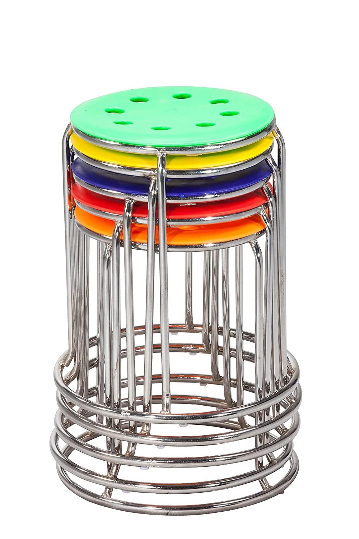Da URBAN® DISC Stack Stool (Multi Colour) (Set of 5)