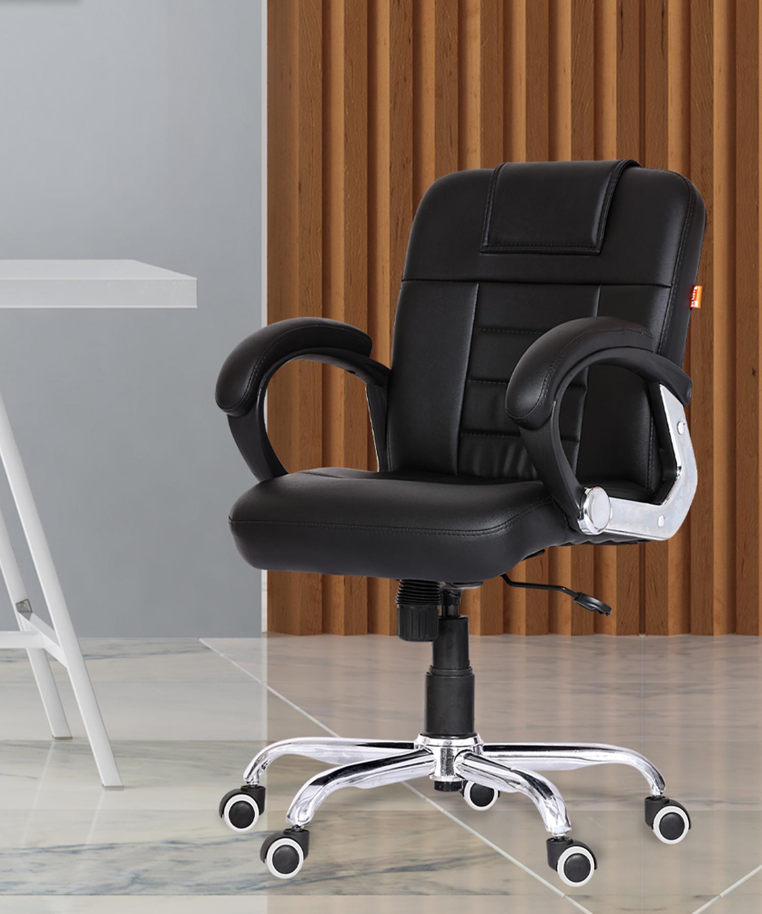 Da URBAN® Brent Mid-Back Revolving Chair (Black)