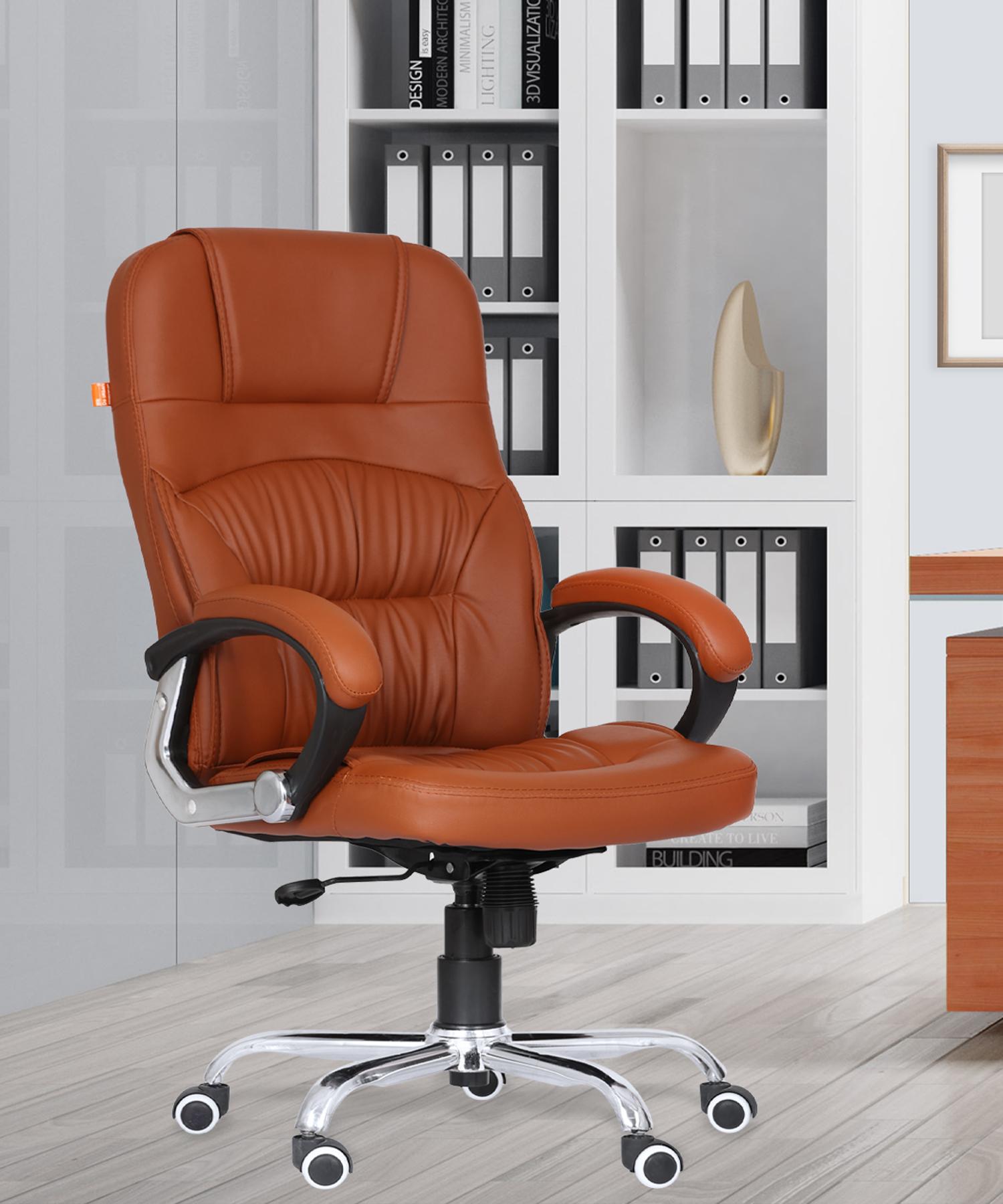 Da URBAN® Clayton Tan High-Back  Revolving Chair