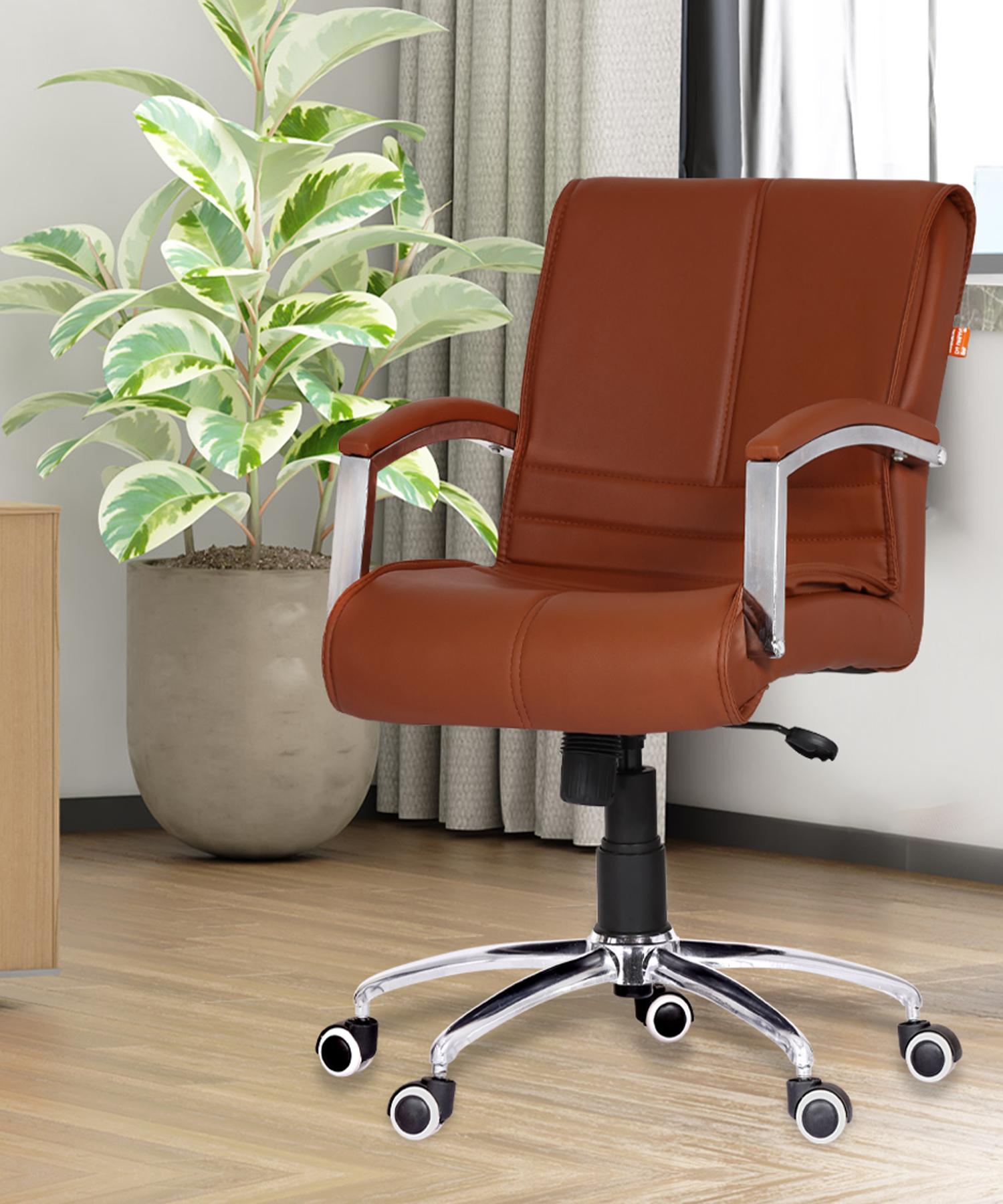 Da URBAN® Malden Mid-Back Revolving Chair (Tan)