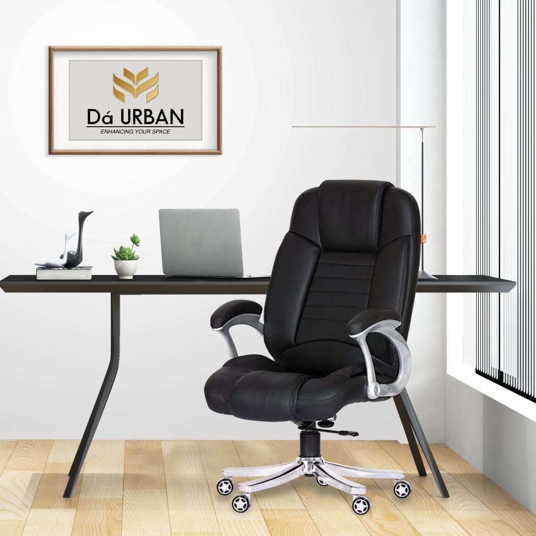 Da URBAN® Brooklyn High-Back Revolving Chair (Black)
