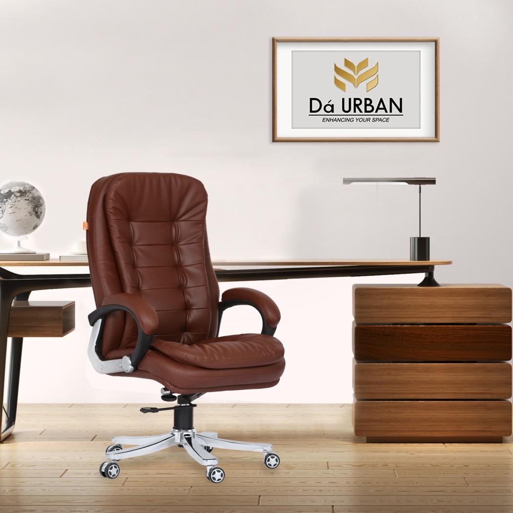 Da URBAN® Wales High-Back Revolving Chair (Brown)
